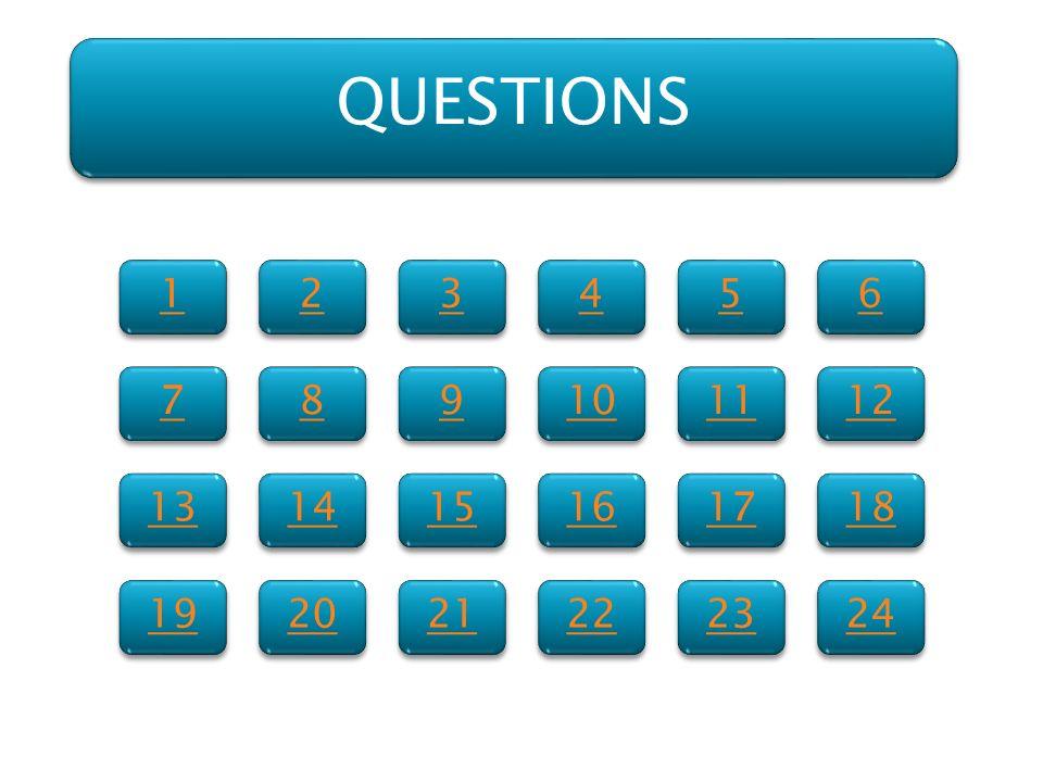 1 1 7 7 13 19 2 2 8 8 14 20 3 3 9 9 15 21 4 4 10 16 22 5 5 11 17 23 6 6 12 18 24 QUESTIONS