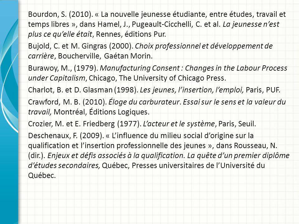 Bourdon, S.(2010).