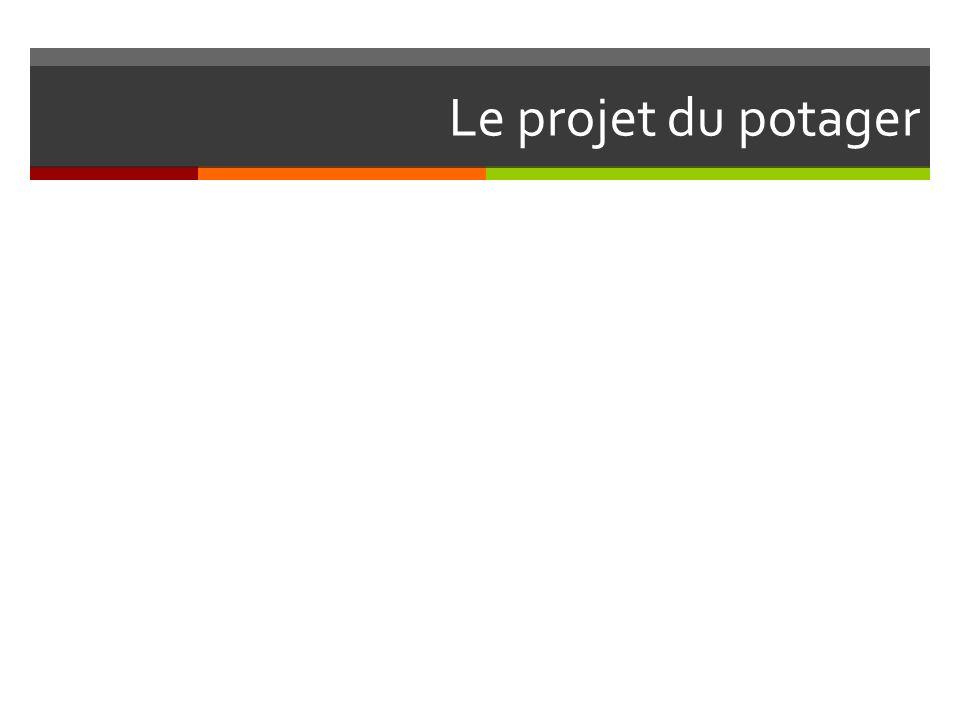 Le projet du potager