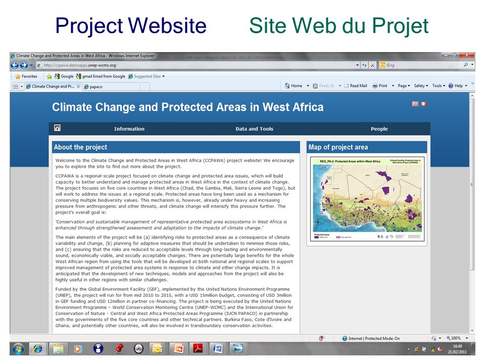 4 Project WebsiteSite Web du Projet