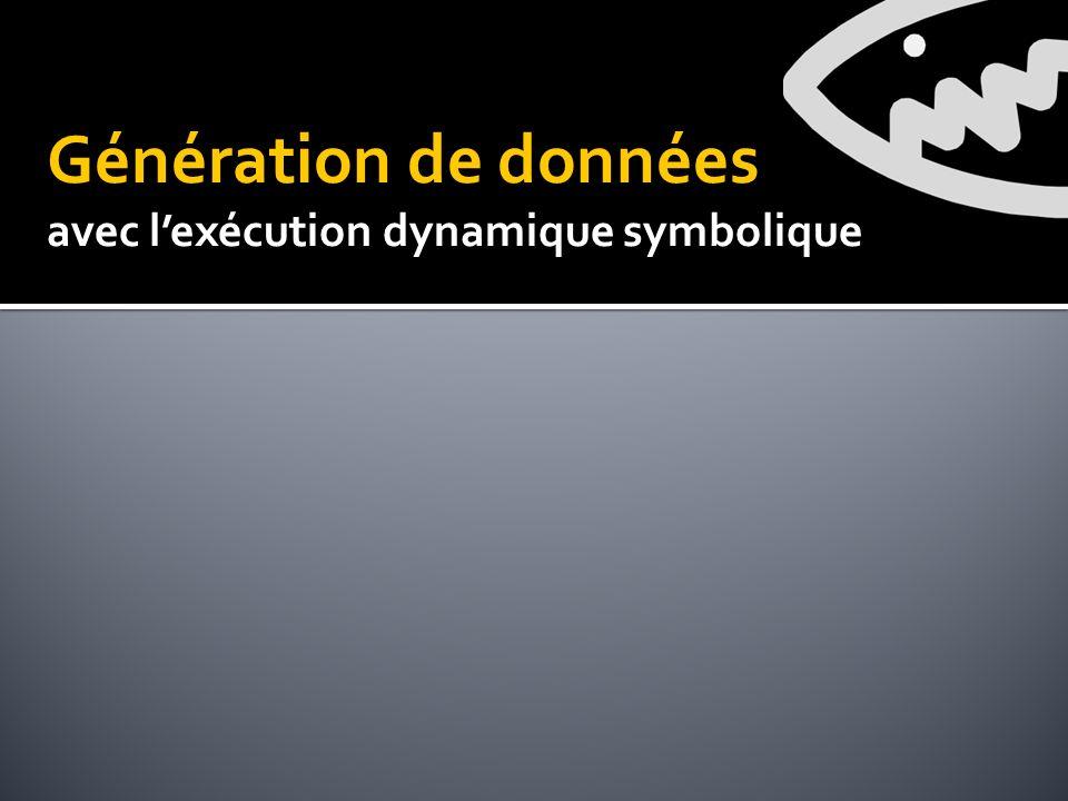Génération de données avec lexécution dynamique symbolique