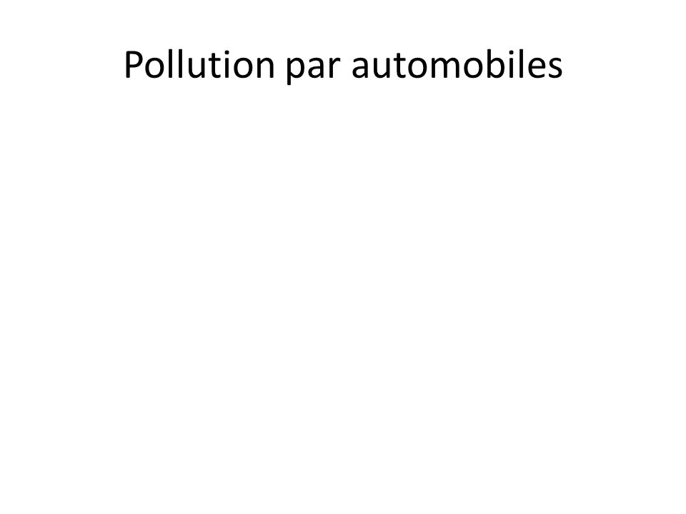 Pollution par automobiles