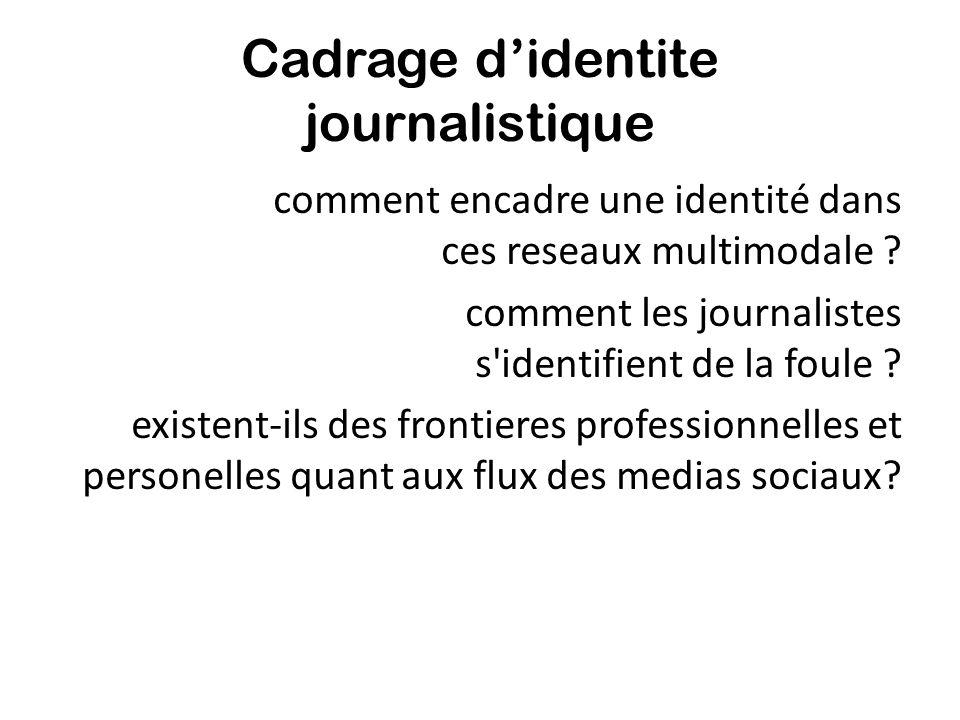 Cadrage didentite journalistique comment encadre une identité dans ces reseaux multimodale ? comment les journalistes s'identifient de la foule ? exis