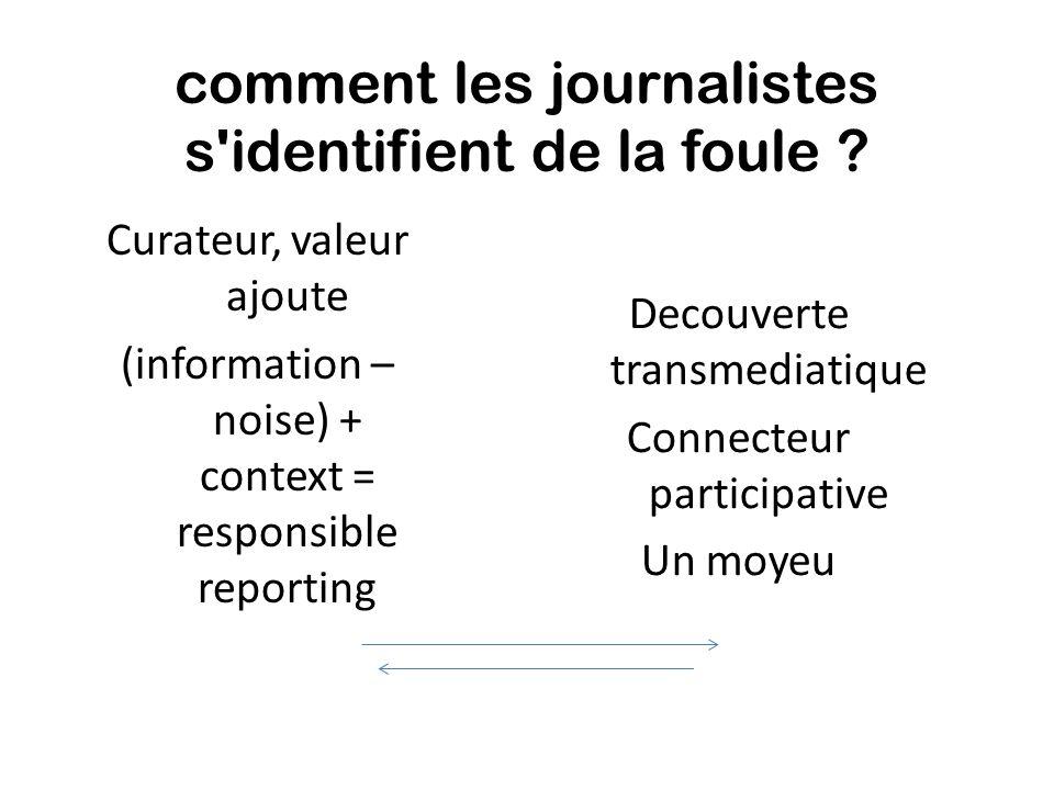 comment les journalistes s identifient de la foule .