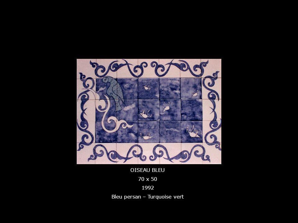 OISEAU BLEU 70 x 50 1992 Bleu persan – Turquoise vert