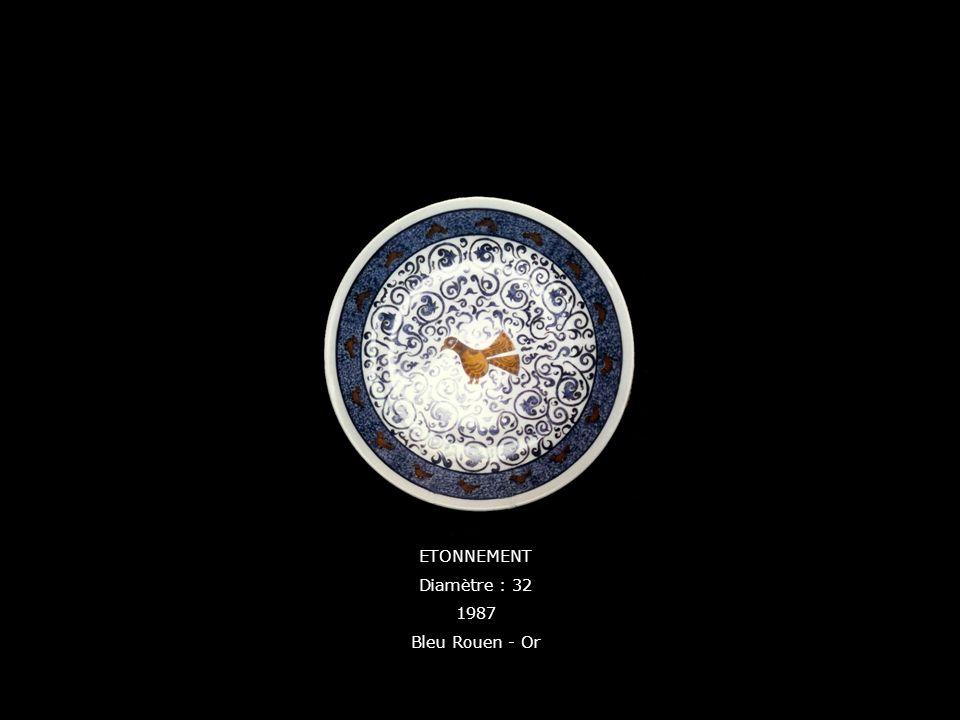 ETONNEMENT Diamètre : 32 1987 Bleu Rouen - Or