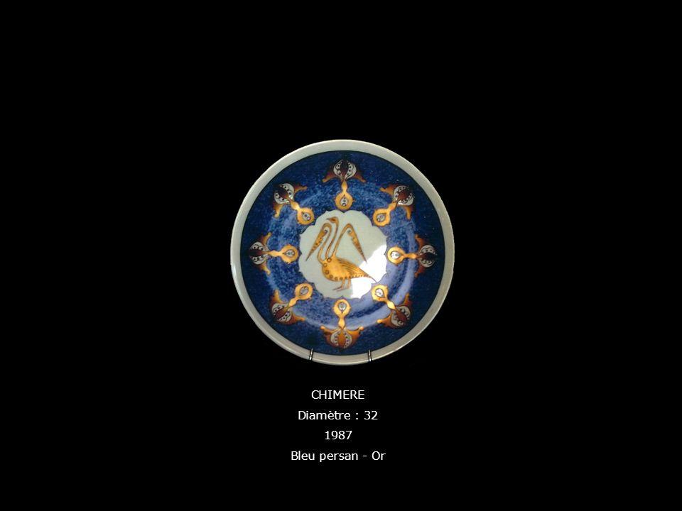 CHIMERE Diamètre : 32 1987 Bleu persan - Or