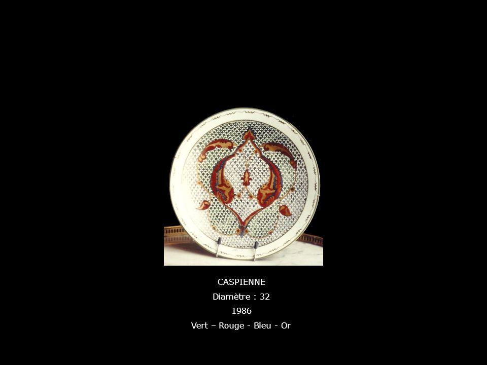 CASPIENNE Diamètre : 32 1986 Vert – Rouge - Bleu - Or