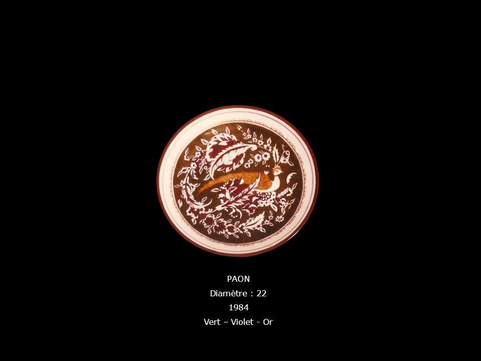 PAON Diamètre : 22 1984 Vert – Violet - Or