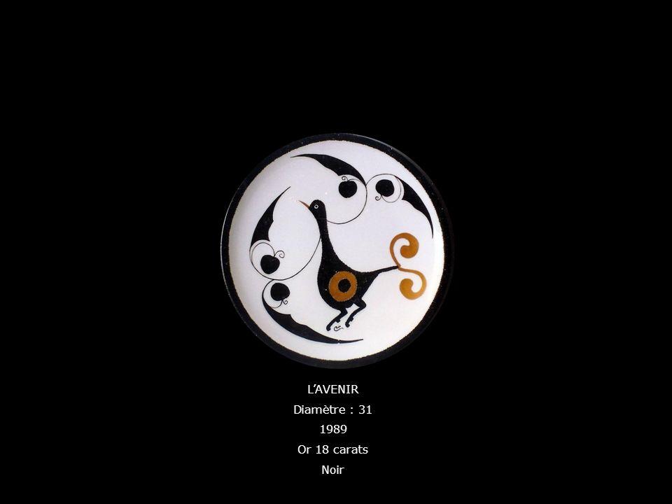 LAVENIR Diamètre : 31 1989 Or 18 carats Noir