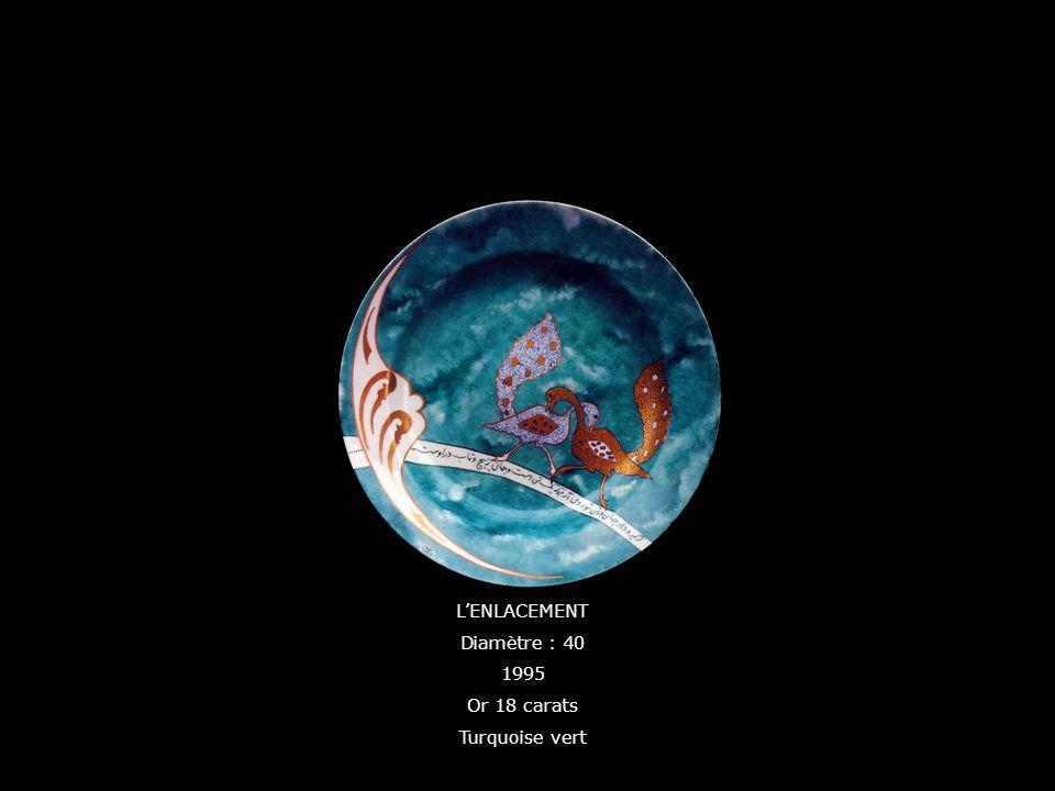 LENLACEMENT Diamètre : 40 1995 Or 18 carats Turquoise vert