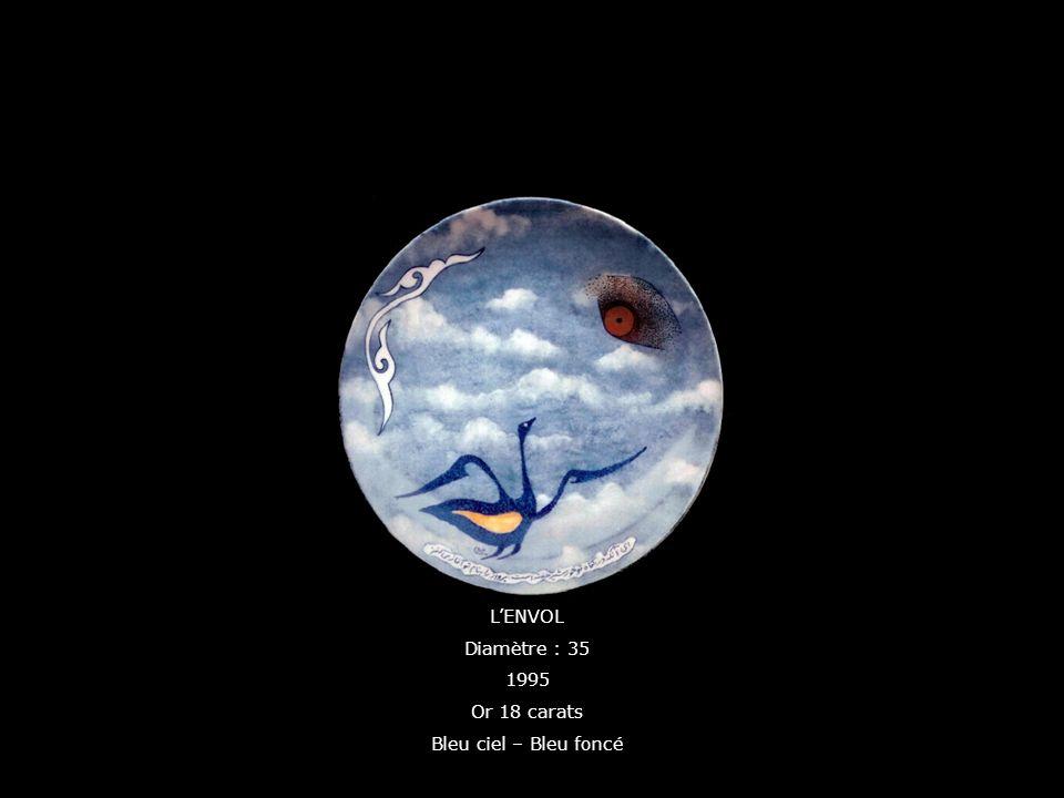 LENVOL Diamètre : 35 1995 Or 18 carats Bleu ciel – Bleu foncé