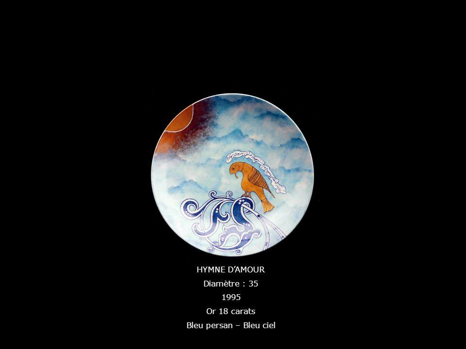 HYMNE DAMOUR Diamètre : 35 1995 Or 18 carats Bleu persan – Bleu ciel