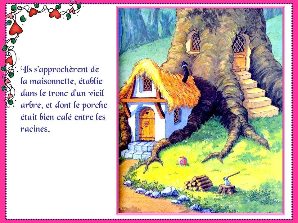 Ils sapprochèrent de la maisonnette, établie dans le tronc dun vieil arbre, et dont le porche était bien calé entre les racines.