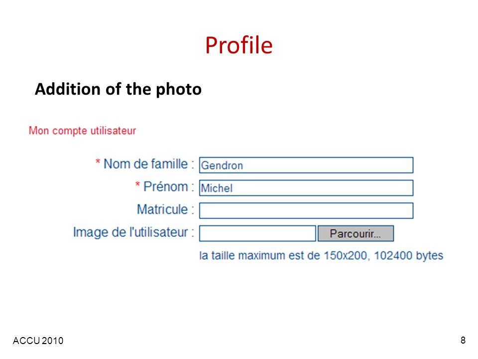 ACCU 2010 Profile Addition of the photo 8