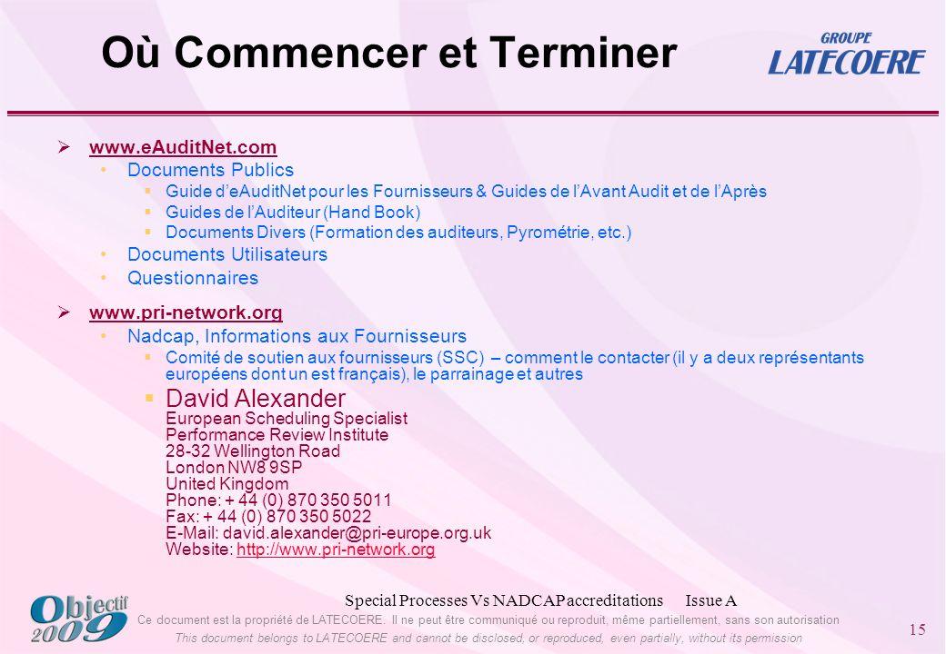 Ce document est la propriété de LATECOERE.