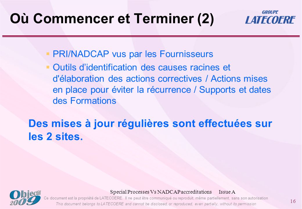 Ce document est la propriété de LATECOERE. Il ne peut être communiqué ou reproduit, même partiellement, sans son autorisation This document belongs to
