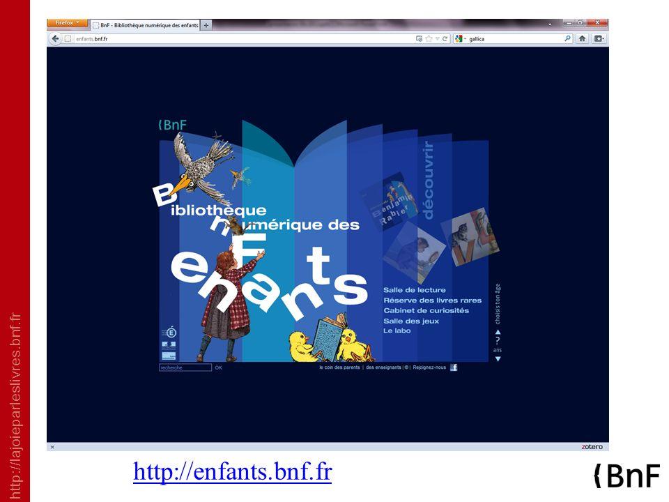 http://lajoieparleslivres.bnf.fr http://enfants.bnf.fr