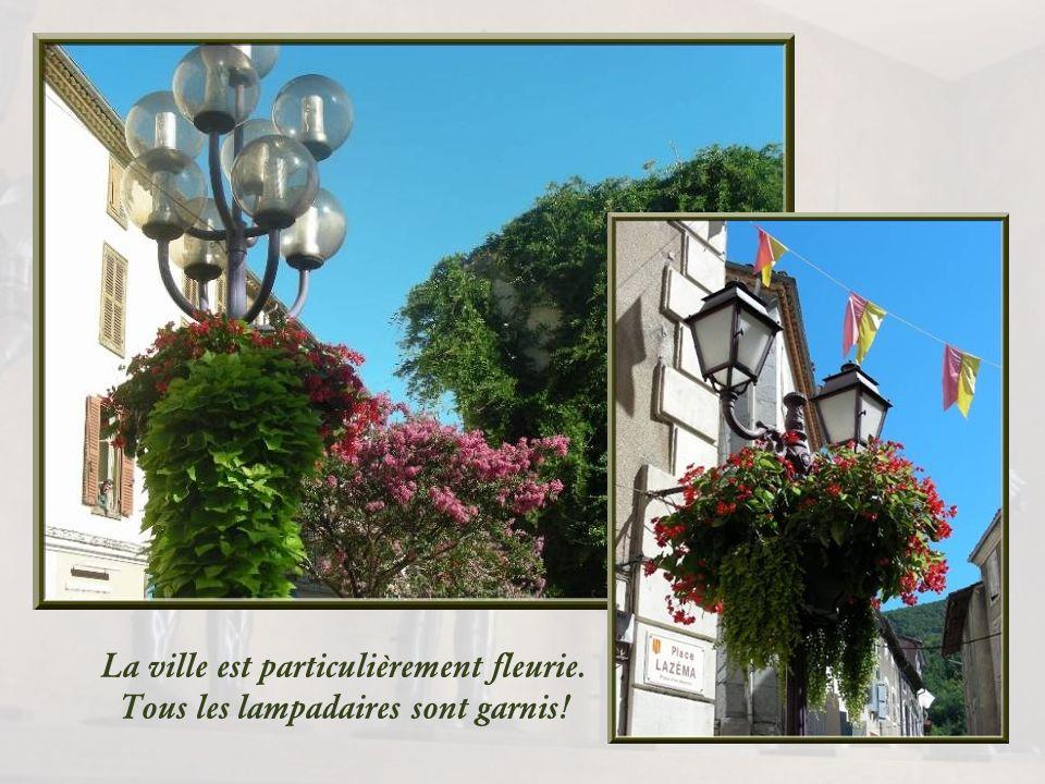 La ville est particulièrement fleurie. Tous les lampadaires sont garnis!