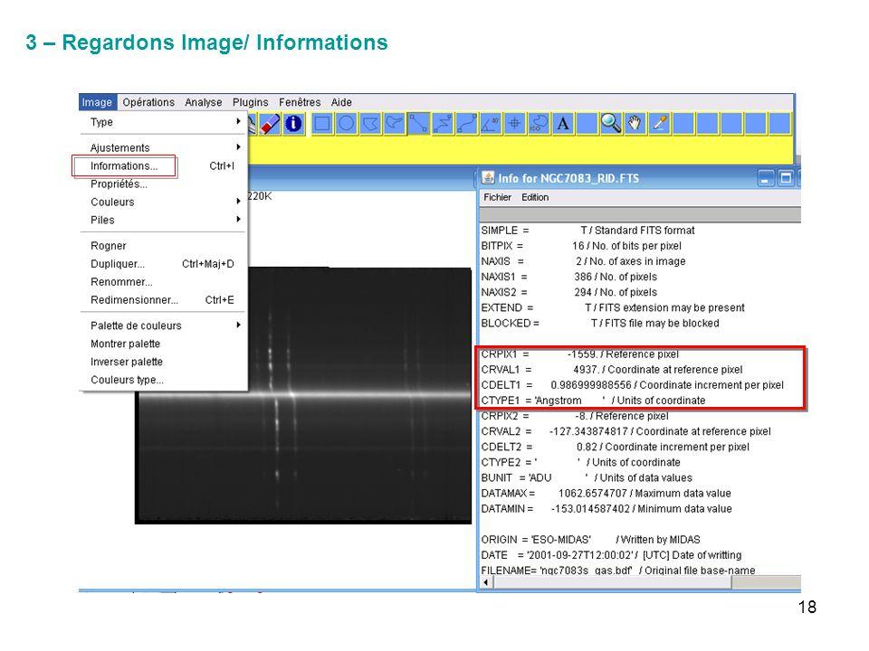 18 3 – Regardons Image/ Informations