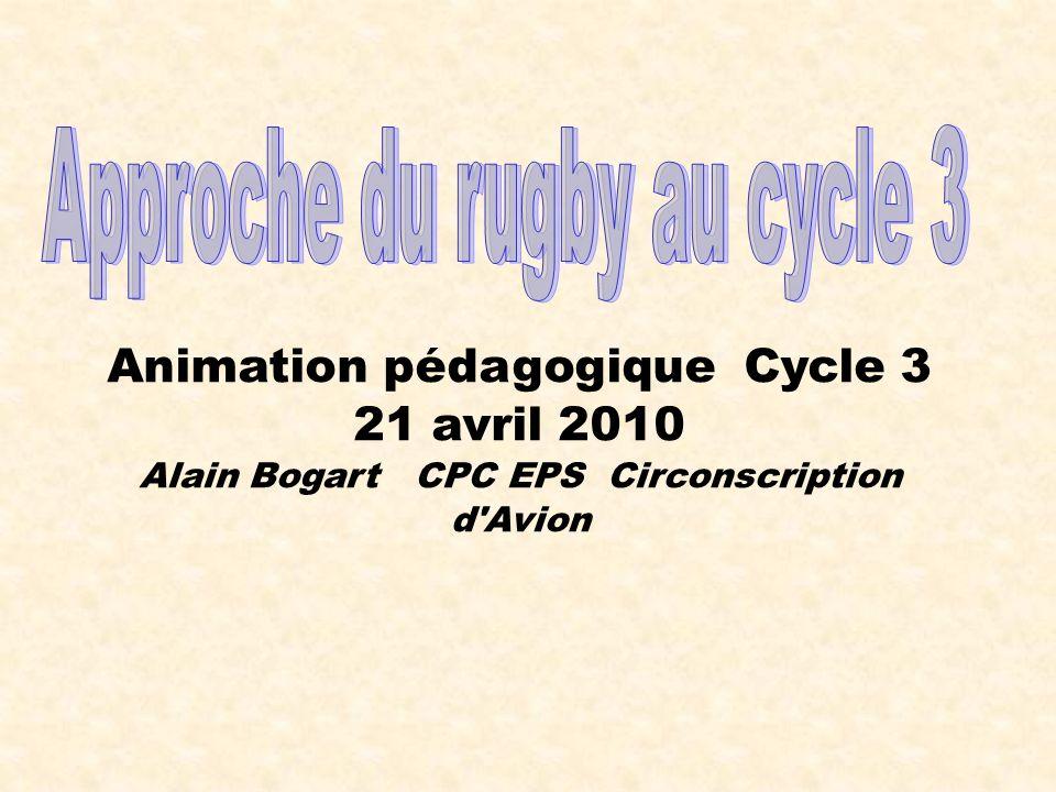 Animation pédagogique Cycle 3 21 avril 2010 Alain Bogart CPC EPS Circonscription d'Avion