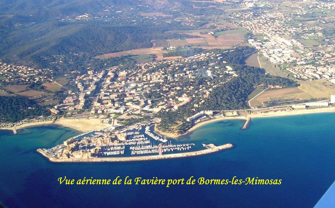 Vue sur larrière pays de Bormes les Mimosas et la baie du Lavandou