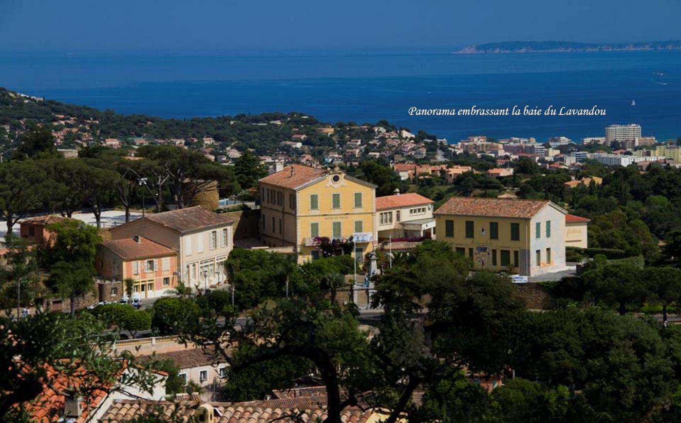 Ile du LevantIle de Port-Cros Vue panoramique sur la plaine et les îles dOr