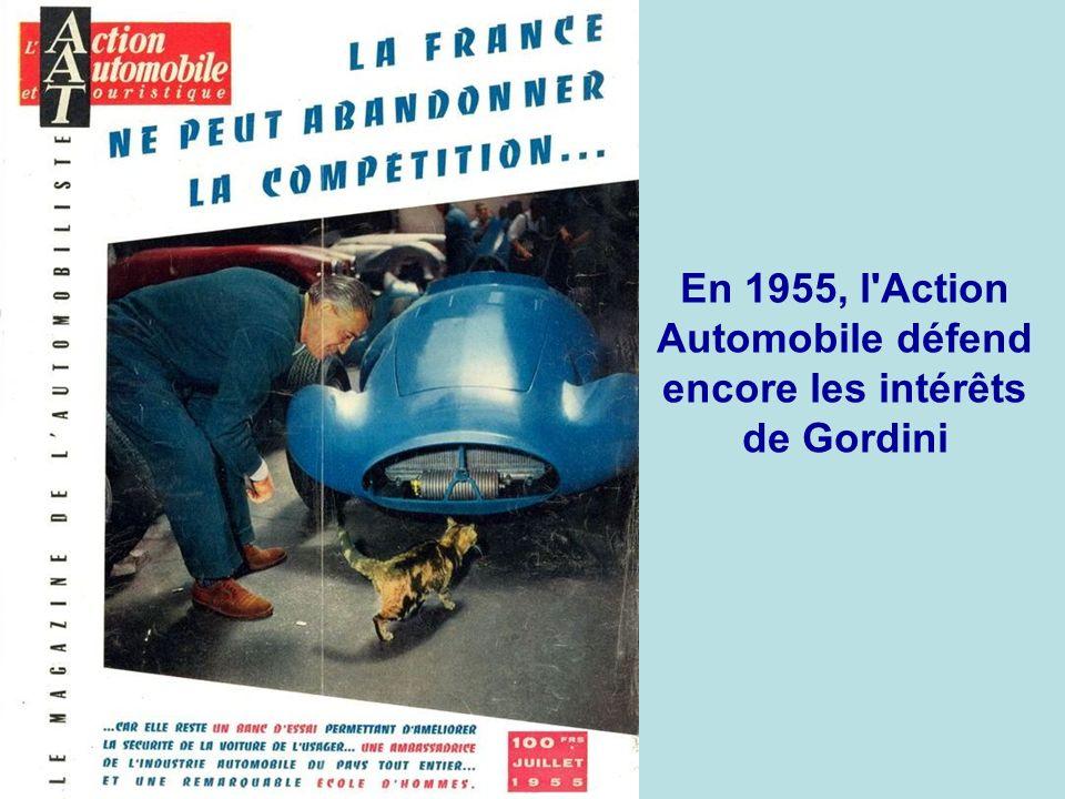 En 1955, Gordini présente une nouvelle monoplace 8 cylindres en ligne de 2,5 litres et 256 ch