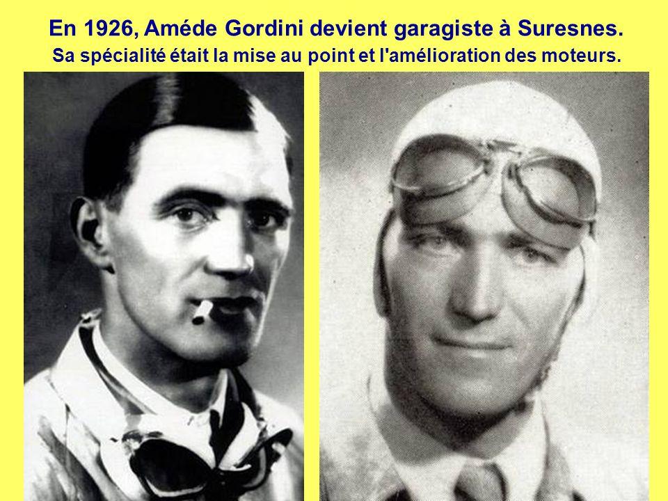 Amédée Gordini est né en 1899 à Bazzano (Italie)