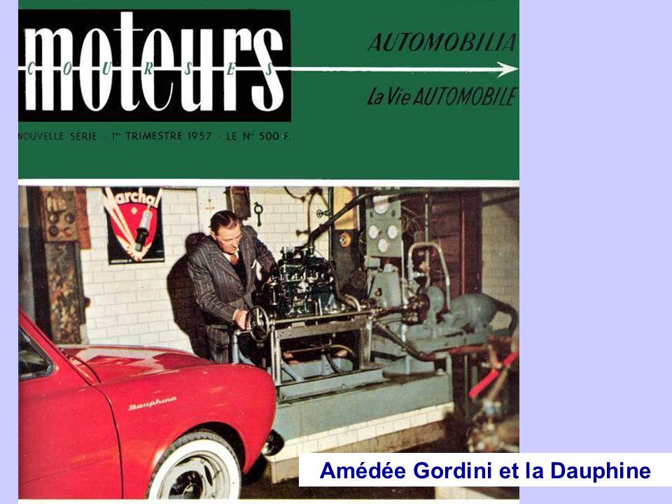 Il prépare la Dauphine Gordini en faisant passer son moteur de 30 à 38 ch.
