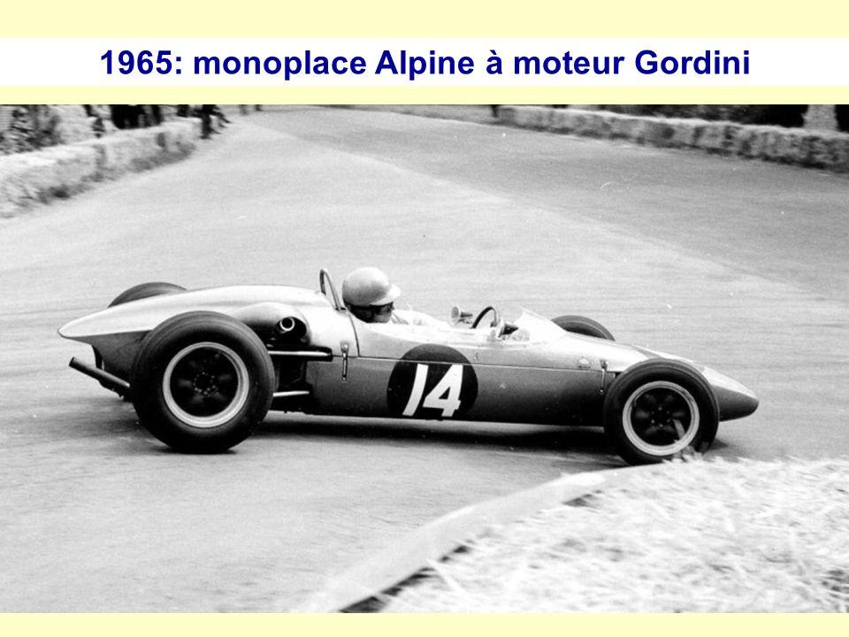 1964: La R8 Gordini 1100 cm 3, 95 ch et 170 km/h