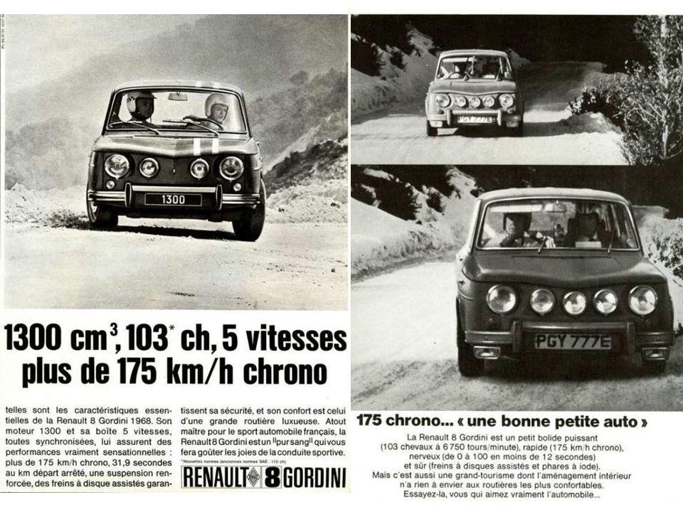 1966: La R8 Gordini 1300 cm 3, 103 ch et 175 km/h