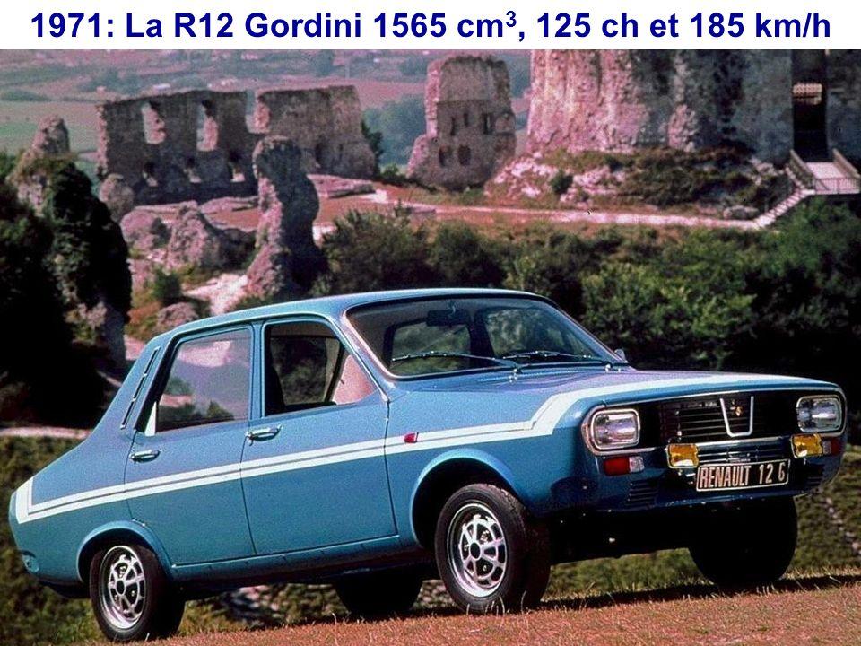 En 1969 Renault rachète la marque Gordini