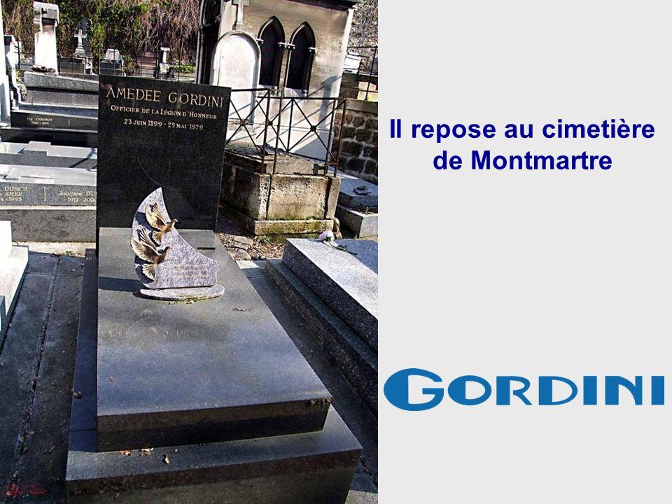 Amédée Gordini est décédé à Paris le 25 mai 1979 à 80 ans.