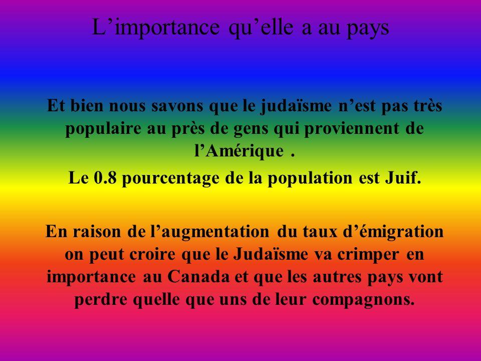 Limportance quelle a au pays Et bien nous savons que le judaïsme nest pas très populaire au près de gens qui proviennent de lAmérique.