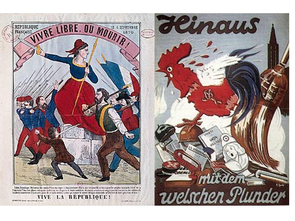 La France perd près de 1 700 communes soit toute l'Alsace et une partie de la Lorraine avec 1 600 000 personnes ; en outre, elle doit payer au vainque