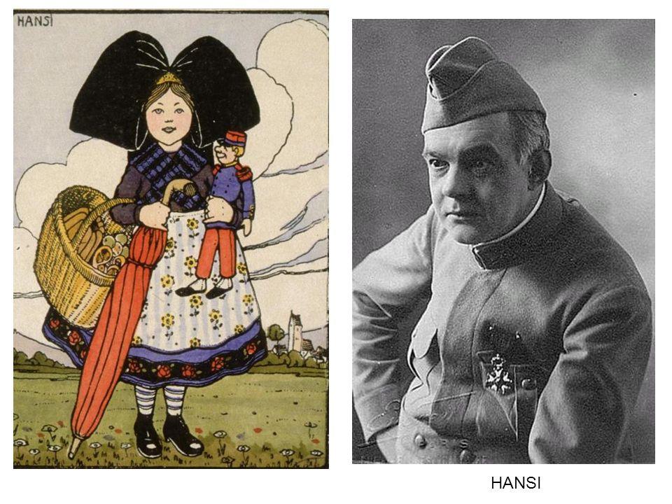 Jean Jacques Waltz « Hansi », qui fit les délices des enfants et des patriotes en fustigeant le Prussien par ses dessins