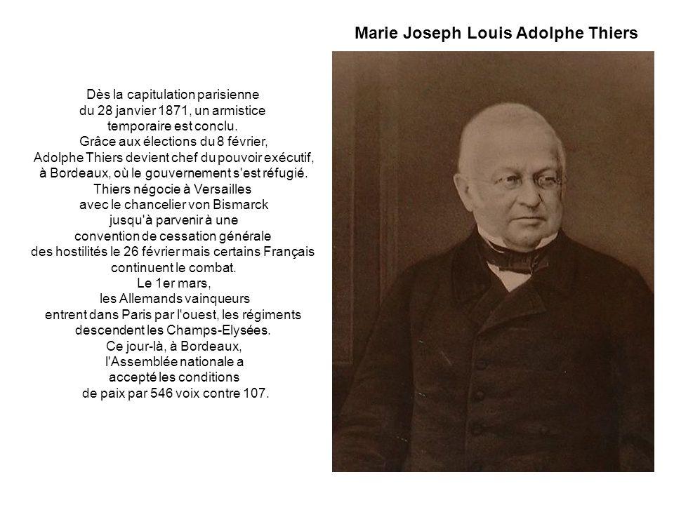 Dès la capitulation parisienne du 28 janvier 1871, un armistice temporaire est conclu.
