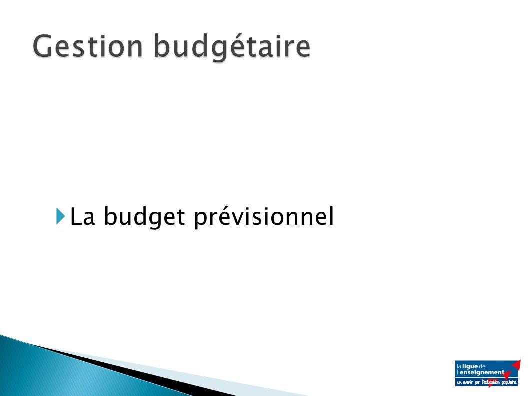 La budget prévisionnel