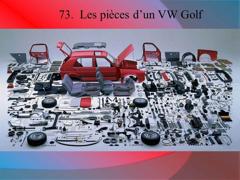 73. Les pièces dun VW Golf