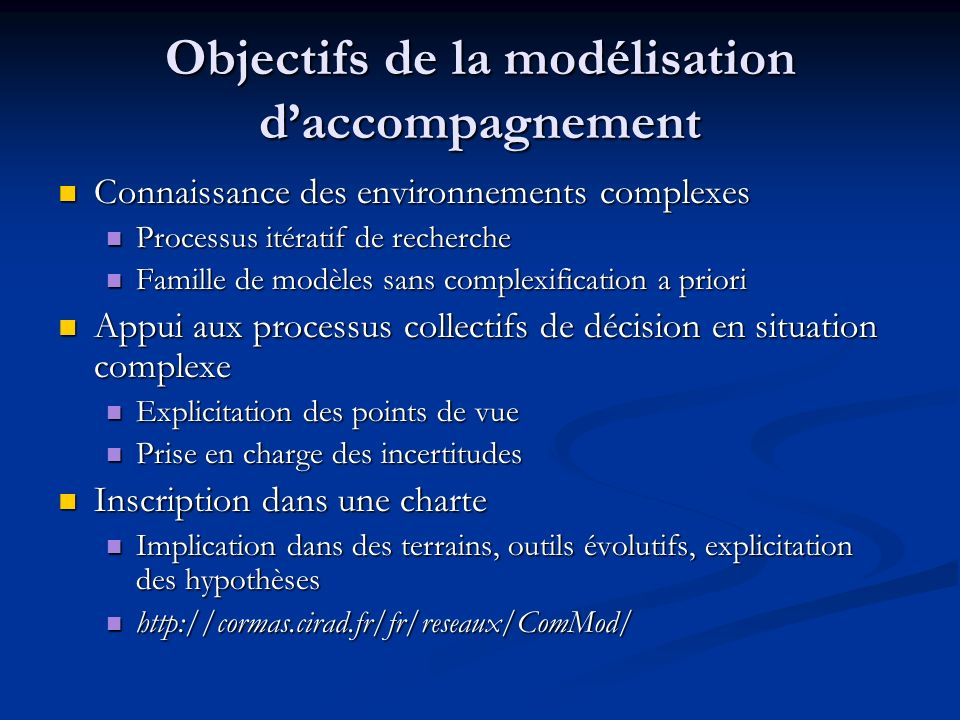 Les jeux de rôle dans la modélisation daccompagnement modèle conceptuel monde observé jeu de rôles SMA