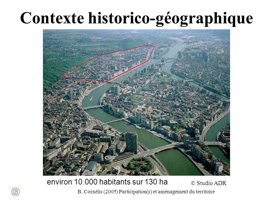 B. Cornélis (2005) Participation(s) et aménagement du territoire Contexte historico-géographique © Studio ADR environ 10.000 habitants sur 130 ha