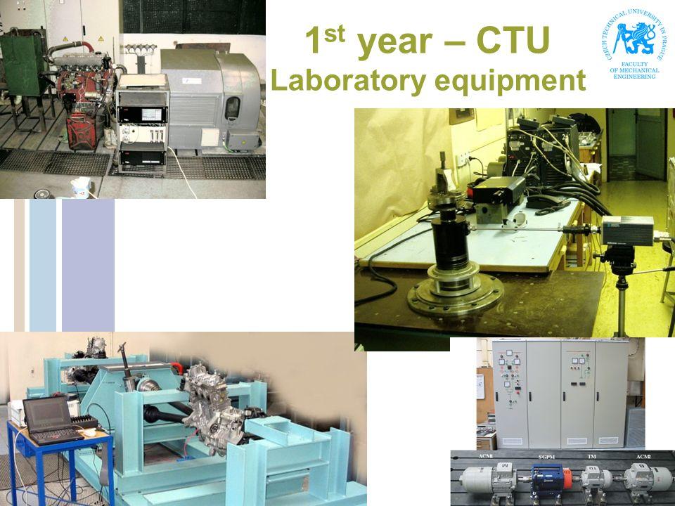 1 st year – CTU Laboratory equipment