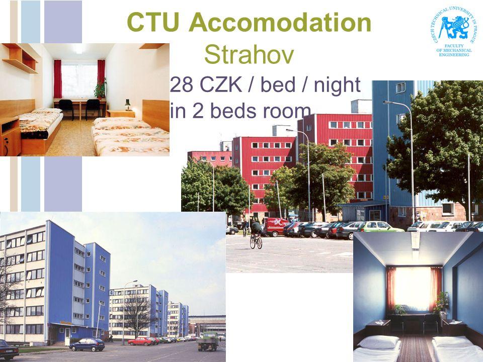 CTU Accomodation Strahov 28 CZK / bed / night in 2 beds room