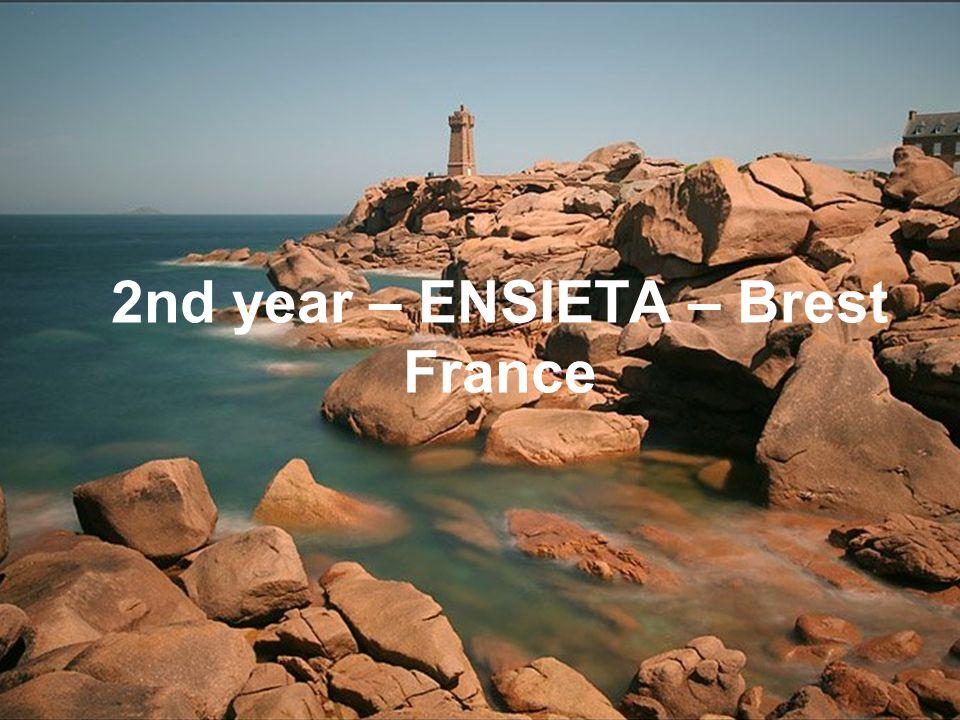 2nd year – ENSIETA – Brest France