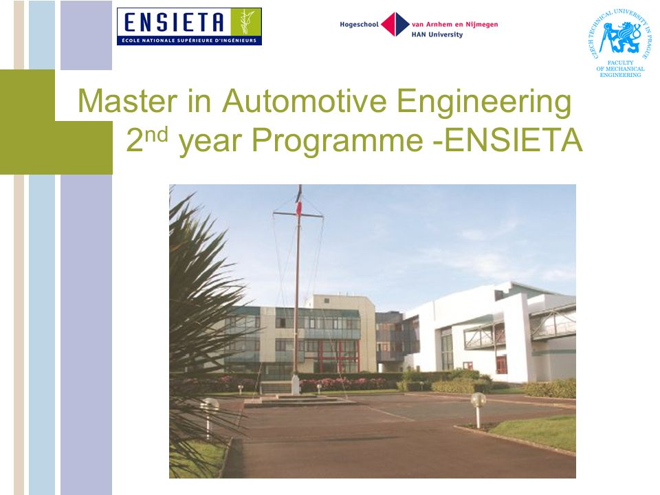 Master in Automotive Engineering 2 nd year Programme -ENSIETA