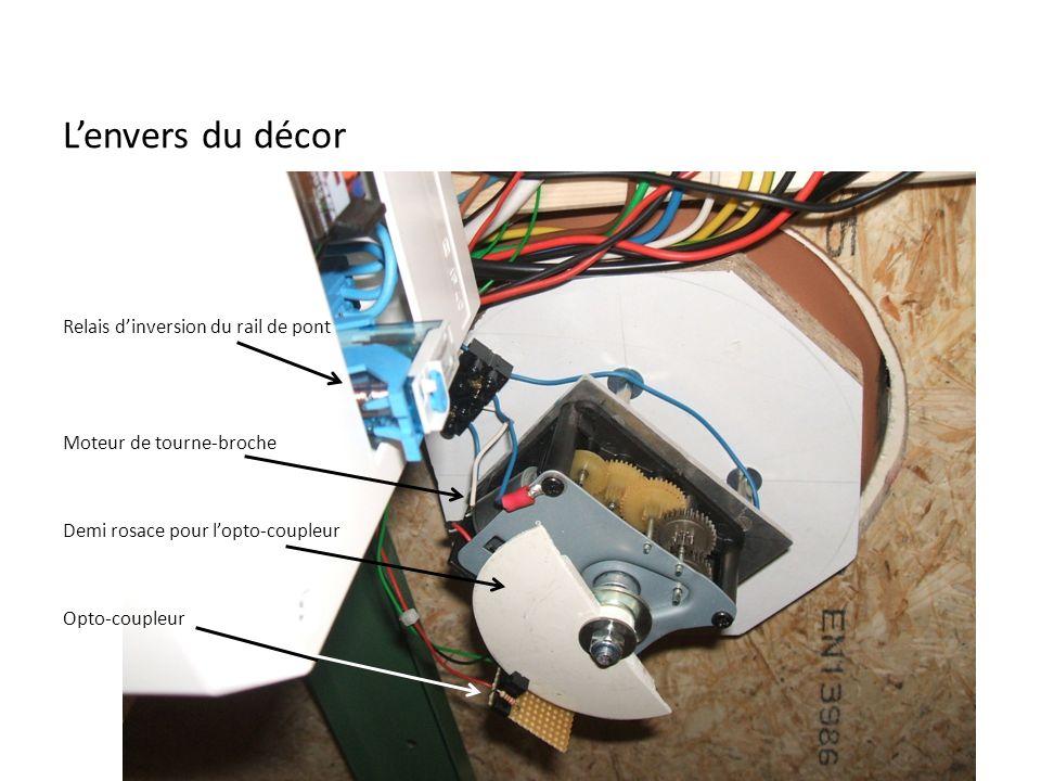 Lenvers du décor Relais dinversion du rail de pont Moteur de tourne-broche Demi rosace pour lopto-coupleur Opto-coupleur