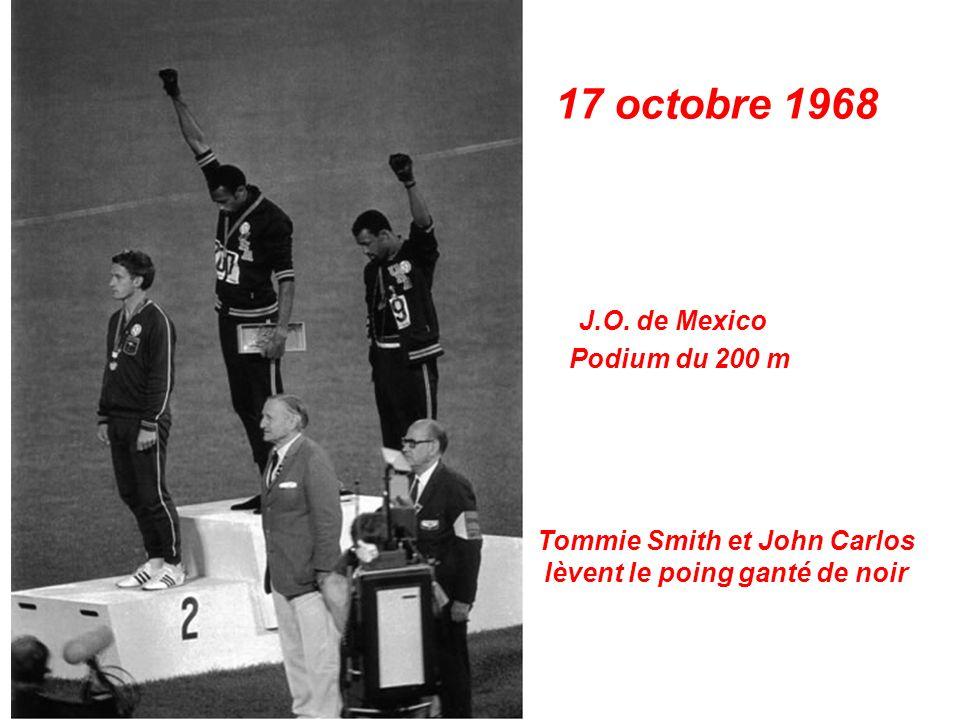 16 octobre 1968 Jeux Olympiques de Mexico Colette Besson médaille dor du 400 m