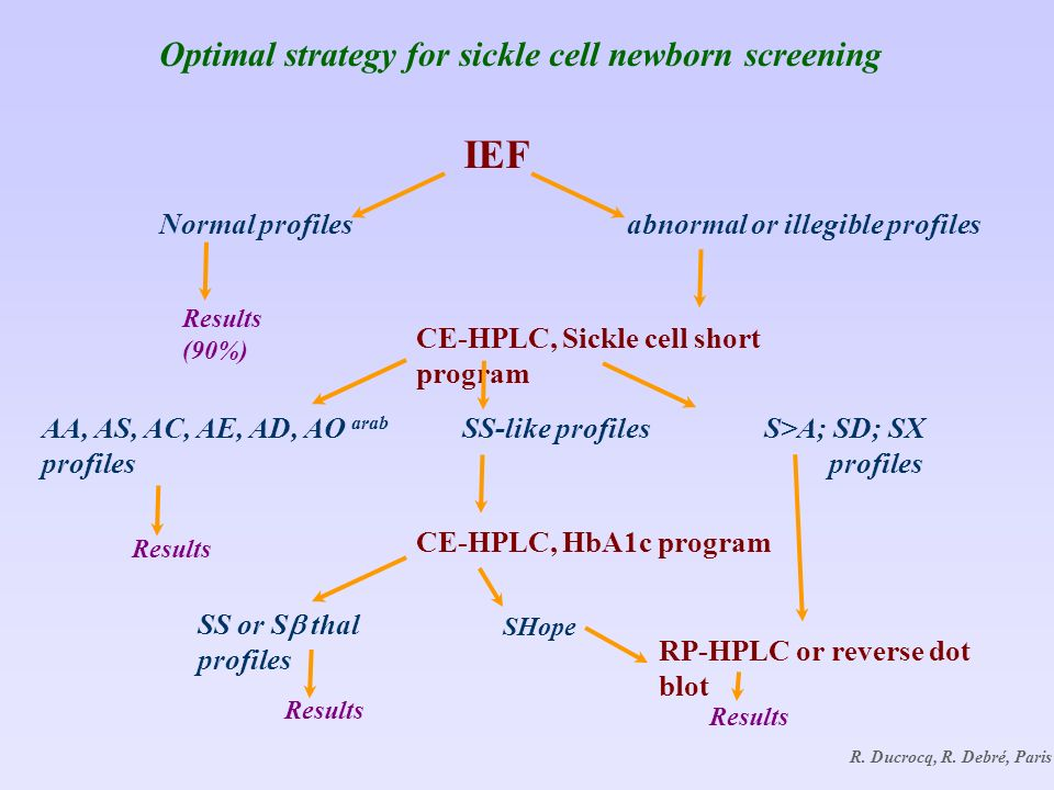 Optimal strategy for sickle cell newborn screening IEF R.