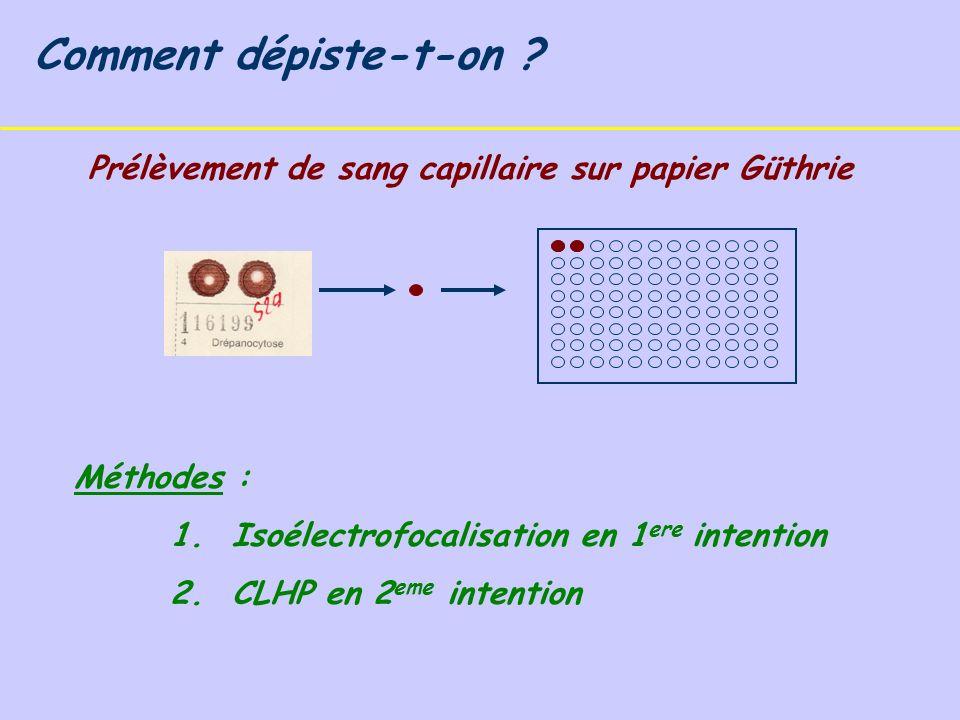 Prélèvement de sang capillaire sur papier Güthrie Comment dépiste-t-on .